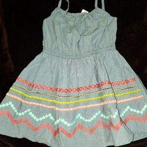Gymboree embroidered little girls size 5 dress